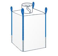 LZS - Model wyposażony w kominek (lej) zasypowy na górze worka i zamknięte dno.