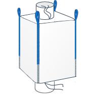 LZW - Model Big Bag wyposażony w kominek (lej) zasypowy umieszczony na górze worka, natomiast jego dno stanowi kominek wysypowy