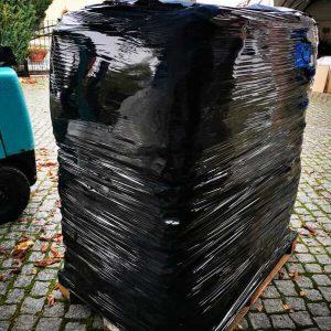 Zapakowana paleta z workami Big Bag